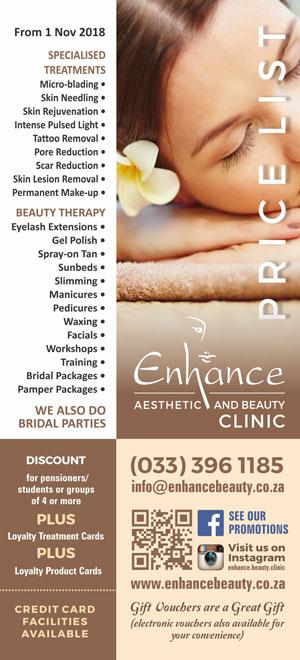 Price List - Enhance Beauty